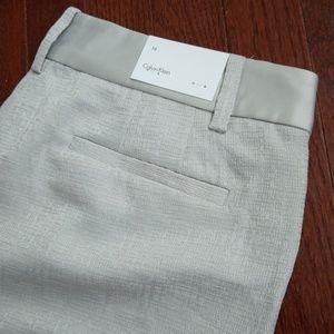 Ck grey silk textured pants